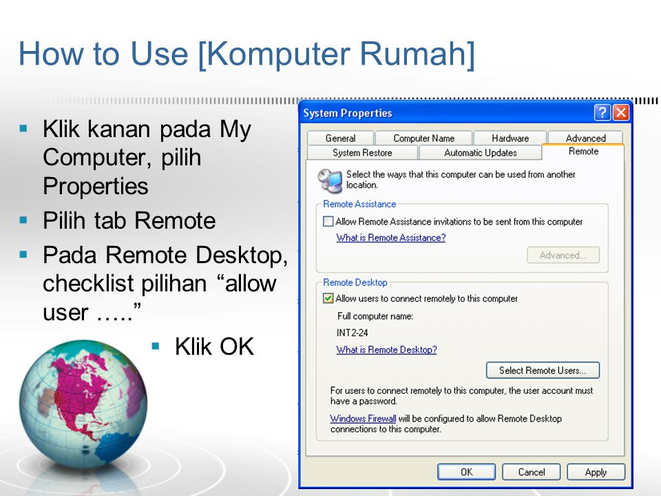 How to Use [Komputer Rumah]